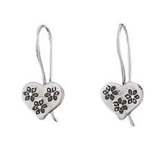3 Flower Heart Earring
