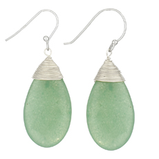 Jade Silver Wrap Earrings