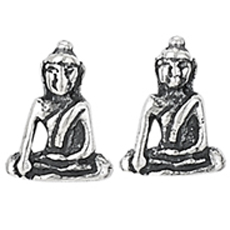 Small Buddha Stud Earrings