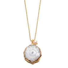 Gold Gizella Solar Quartz Necklace