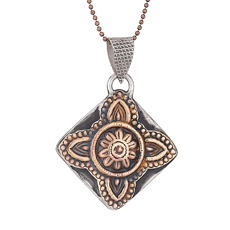 India Copper Stamp Necklace