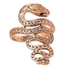 Large Twist Copper Snake Ring