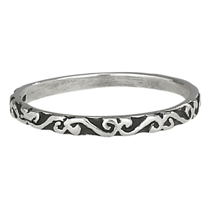 Ivy Scroll Bands: Thin Scroll Band Ring