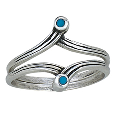 Double Ring Turquoise