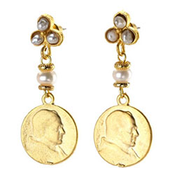 Pearl and Coin Drop Earring
