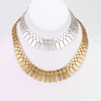 Brushed Flat Serpentine Necklace