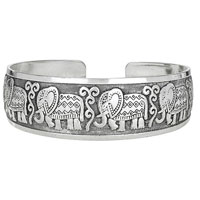 Tribal Elephant Cuff